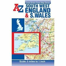 South West England & South Wales Road Map by Geographers' A-Z Map Co Ltd (Sheet map, folded, 2015)