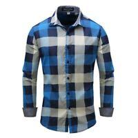 Fashion Dress Shirts 100% Cotton Long Sleeve Casual Slim Fit Casual Luxury Mens