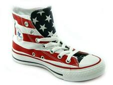 Converse All Stars Rayas EE. UU. Flag Hi Top Botas Béisbol Zapatillas Size UK 9 43