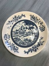 "Blue And White Japan 6"" Farm Scene Plate Dish"