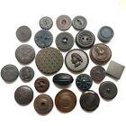 Antique Buttons ~ Fine Bunch of Goodyear Rubber inc Head Watermelon Boar ++
