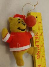 Winnie The Pooh Vtg Xmas Tree Ornament Hong Kong Walt Disney Red Ball