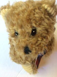"Vintage First & Main Brown Plush Huggum Teddy Bear With Tags 7"" Tall"