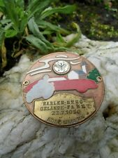Rare vintage german ADAC Car Race Badge from 1956 with Porsche 356 Silhouette