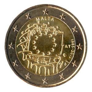 Sondermünzen Malta: 2 Euro Münze 2015 EU-Flagge Sondermünze Gedenkmünze