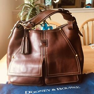 Dooney & Bourke Florentine Kingston Hobo Shoulder Bag Handbag Chestnut Brown
