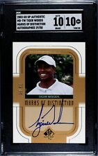 Tiger Woods 2003 SP Authentic Marks Of Distinction Gold /50 SGC 10 PSA BGS 10