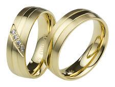 Eheringe Partnerringe Trauringe Verlobungsringe aus Edelstahl mit Zirkonia 3108
