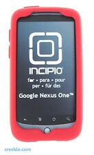 Incipio dermaSHOT Silicone Gel Skin Case for HTC Google Nexus One (Deep Red)
