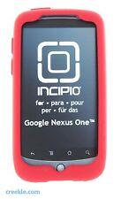 Incipio dermaSHOT Silicone Gel Skin Case for HTC Google Nexus One (Deep Red)
