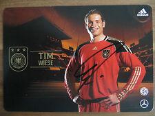 Handsignierte AK Autogrammkarte *TIM WIESE* DFB Deutschland WM 2010
