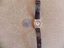 Bulova Swiss 97M06 Gold Tone Ladies Watch Water Resistant Leather Strap