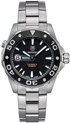 WAJ2110.BA0870 Tag Heuer Aquaracer Automatic Black Stainless Steel 500M Watch