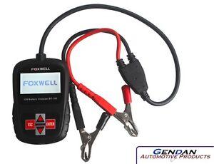 Foxwell BT100 12 Volt Car Battery Analyser Tester - Genuine Foxwell UK Product