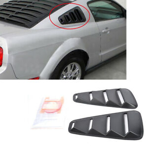Quarter Seite Fenster Lamellen Scoop Cover Vent passgenau für Ford Mustang 05–14