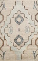 6'x9' Tribal Geometric Moroccan Oriental Area Rug Hand-knotted Plush Wool Carpet