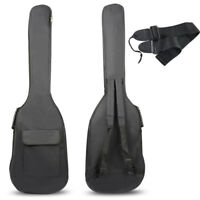 Double Straps Padded Electric Bass Guitar Gig Bag Soft Case Backpack New 2018