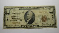 $10 1929 Whitinsville Massachusetts MA National Currency Bank Note Bill 769 Fine