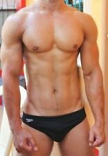 "SPEEDO MEN'S BLACK COMPETITION BIKINI SIZE 34"" USA  SWIM BRIEF"