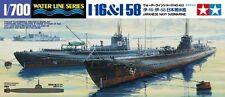 Tamiya 31453 1/700 Scale Model Kit WWII I.J.N Japanese Submarine I-58 & I-16