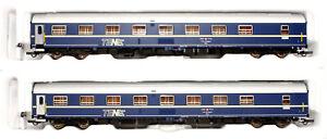 Roco 64027 2er Set Schlafwagen WLAm TEN SBB CFF, Epoche IV H0/ 1:87  [D]