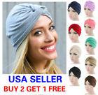 Cotton Women Turban Ladies Hair Head Hijab Cap Muslim Wrap Stretch Hat Scarf