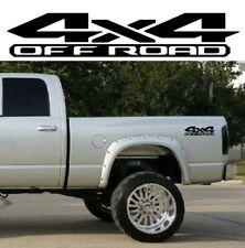 2 x Black 4x4 Off Road 3D 3D Bedside Vinyl Decals Fits New Dodge Ram 1500 2500 3500 Power Wagon