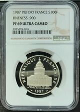 France the Fifth Republic - 100 Pantheon 1987 Piefort - NGC PF69 - 100 Copies