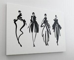 Zeichnung Mode Model Beauty Leinwand Canvas Bild Wandbild Kunstdruck L2041