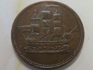 Prince Edward Island Ships Colonies & Commerce token