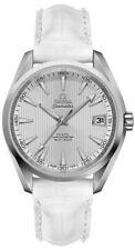 New Omega Seamaster Aqua Terra Steel Watch on White Strap - 23110392102001-WHTCD
