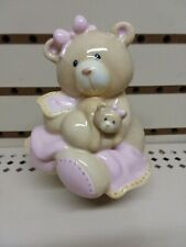 Baby Gund Nursey Mama Teddy Bear with Baby Bear Porcelain Night Light Shade