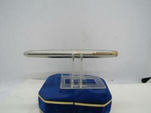 """Parker """"51"""" Aerometric Fountain Pen Silver Tone Body Gold Tone Clip"""