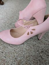 CHASE + CHLOE Mary Jane Pump Womens Pink PVC Size 10 NWOB
