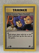 Here Comes Team Rocket 71/82 1st Edition Trainer Rare NM+