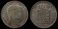 pci1048) Napoli Due Sicilie Ferdinando II piastra 1834 TONED !!!