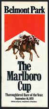 SEATTLE SLEW & AFFIRMED IN 1978 MARLBORO CUP HORSE RACING PROGRAM! SECRETARIAT!