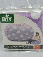 Comfort Research Classic Bean Bag Purple White Dots college dorm tv chair (ap)