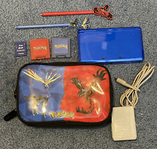 Nintendo 3DS Blue Handheld System Console + 2gb SD Card + Charger + Pokemon Case