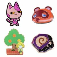 Animal Crossing New Horizons Tom Nooke / Isabelle / Bob / Fossil Pin Badge Gift