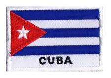 Ecusson patche patch drapeau CUBA Cubain 70 x 45 mm brodé à coudre