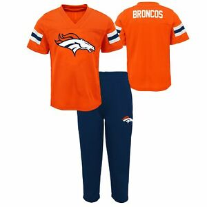 Outerstuff NFL Toddlers (2T-4T) Denver Broncos Training Camp Top and Pants Set