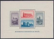HOJA BLOQUE MONUMENTOS HISTORICOS ** 847 - AÑO 1938 HB SIN FIJASELLOS DE LUJO