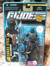 2010 Hasbro GI Joe 30th POC Pursuit Of Cobra Snake Eyes Figure MOC