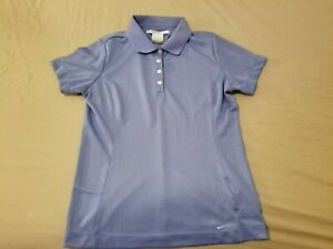 Womens Nike Golf Polo Shirt S Small Purple Athletic