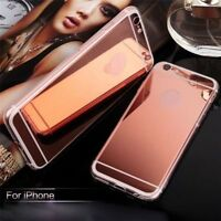 Soft Silicone TPU Luxury Ultra-thin Mirror Case Cover For Apple iPhone 5 6S Plus