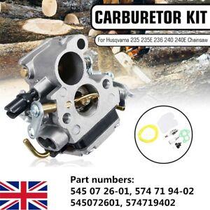 Carburetor Carb Kit Fit Husqvarna 235 236 240 240E Chainsaw 545072601  / .. //