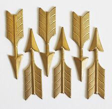 6x encantos de flecha de Latón, Latón Joyas Adornos De Flecha 44.5 Mm x 10.5 mm