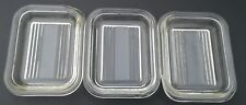 Lot of 3 Vintage PYREX 501 Refrigerator Dish OLD STYLE LIDS WITH CHIPS