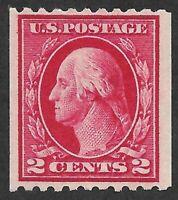 Mr B's US Stamp #442 MNH OG  1914 - Coil Perf 10 Hzn- Washington-Free Shipping!